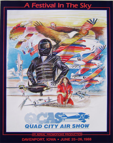 Illustration for the 1988 Quad City Air Show