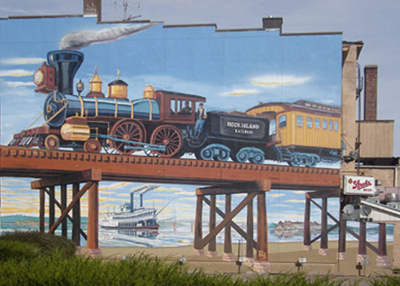 Mural of the Rock Island Express, found in downtown Rock Island